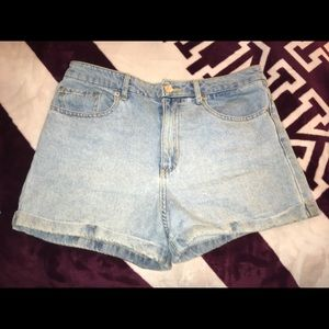 Forever 21 Light Blue Denim Shorts